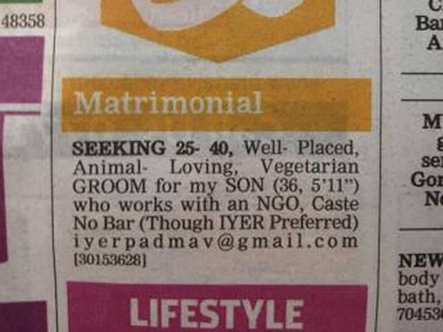 Mumbai Mother Places Groundbreaking Matrimonial Ad for Son