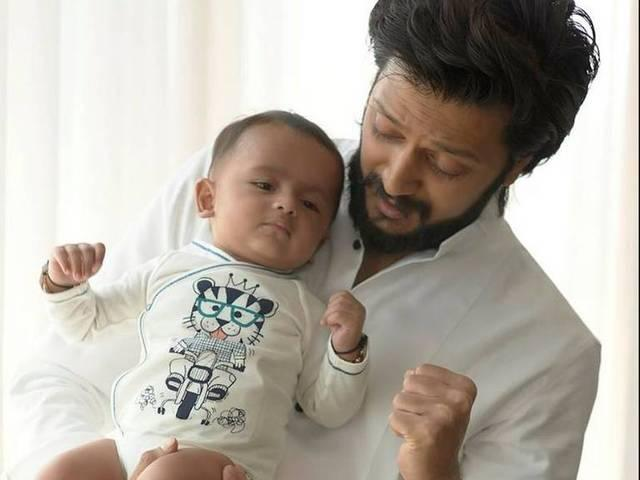 Riteish Deshmukh debuts son Riaan's pictures online