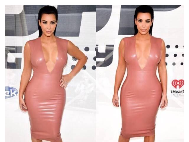 Kim Kardashian's dress catches on fire at CFDA Awards