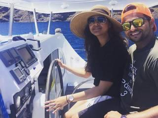 Suresh Raina honeymoon pics