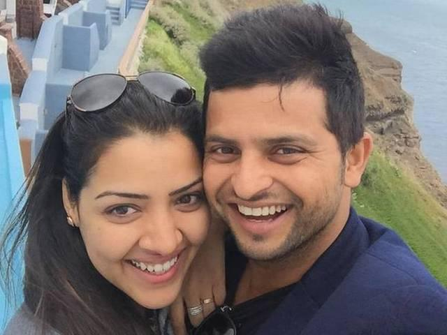 suresh raina is in paris with wife priyanka