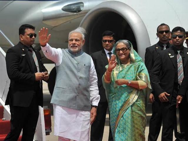 Narendra Modi_Shiekh Hasina_