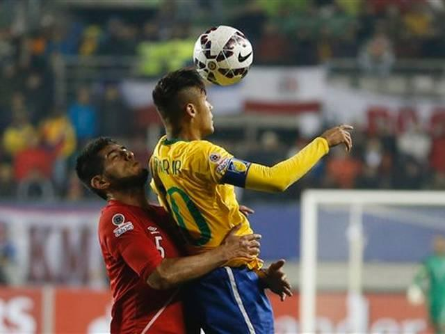 Neymar stars in Brazil's 2-1 win over Peru