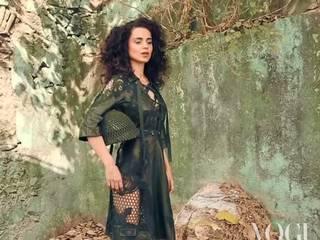kangna's militry women avatar for vogue