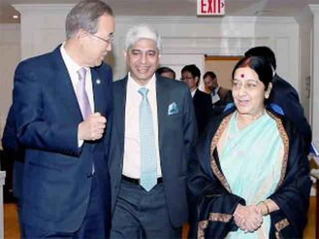 Sushma Swaraj, UN chief Ban Ki-moon discuss several regional issues