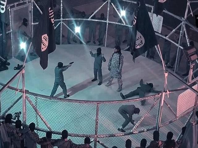 ISIS' cage of death: Terror group forces young boys to wrestle inside giant steel ring
