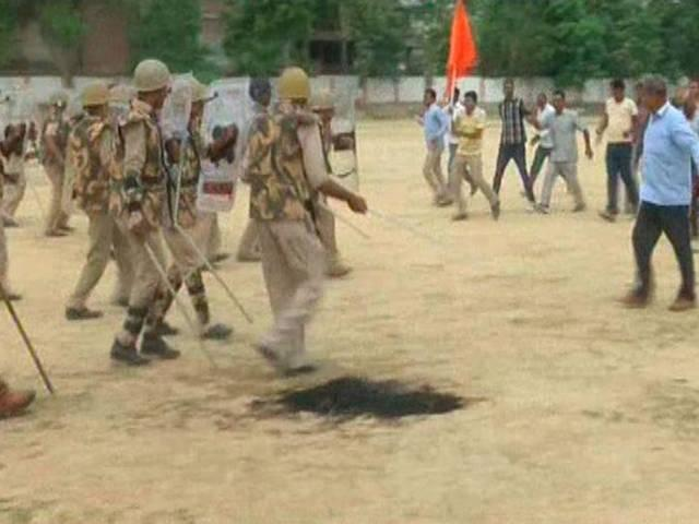 police mock drill in Allahabad