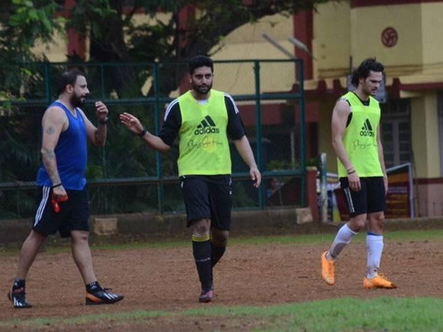 abhishek bachchan had a fight with film producer during a charity match