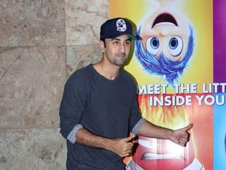 alia bhatt goes to watch inside out with an injured hand