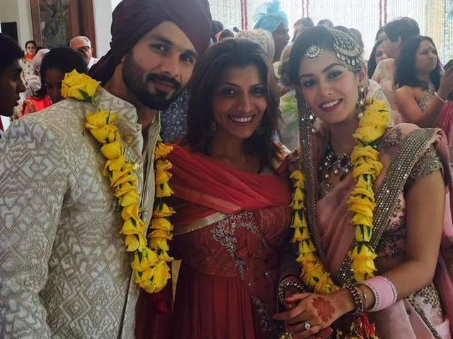 Newlyweds Shahid Kapoor, Mira Rajput