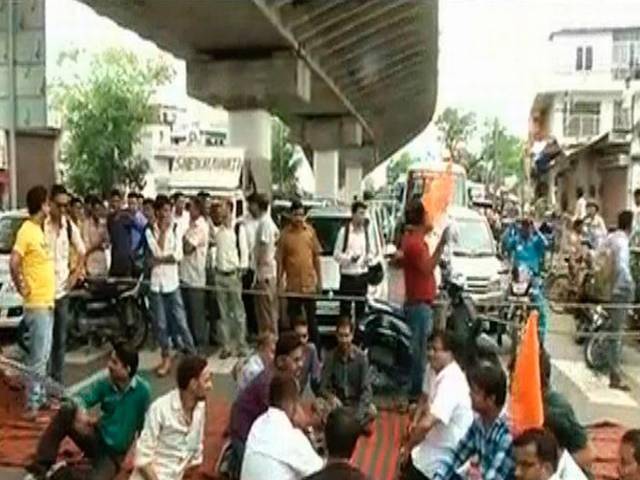RSS PROTEST IN JAIPUR