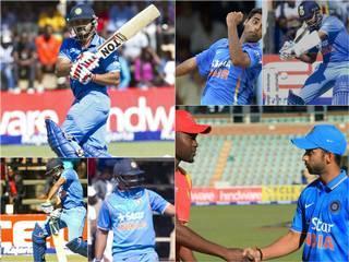 Team India_Zimbabwe Cricket team_Ajinkya Rahane_Ambati Rayudu_Stuart Binny_Kedar Jadhav_