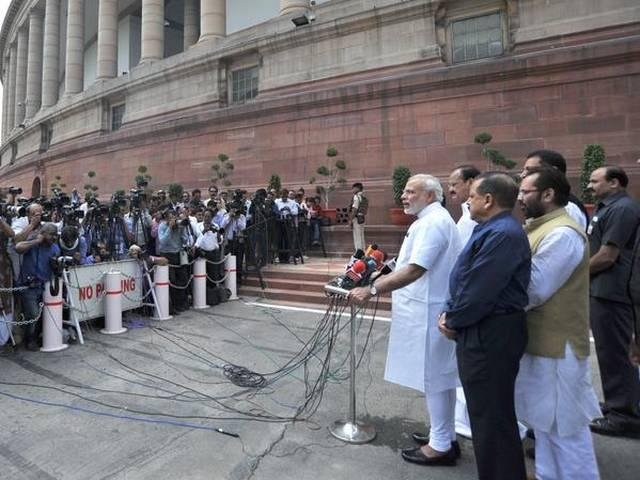 Lok Sabha adjourns for the day after obituary