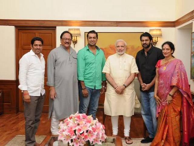 When PM met 'Baahubali' Prabhas