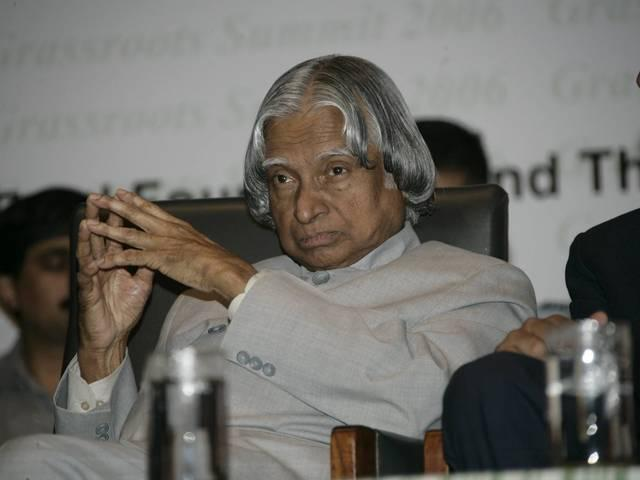 when apj abdul kalam denied to sit on the chair alloted for the president