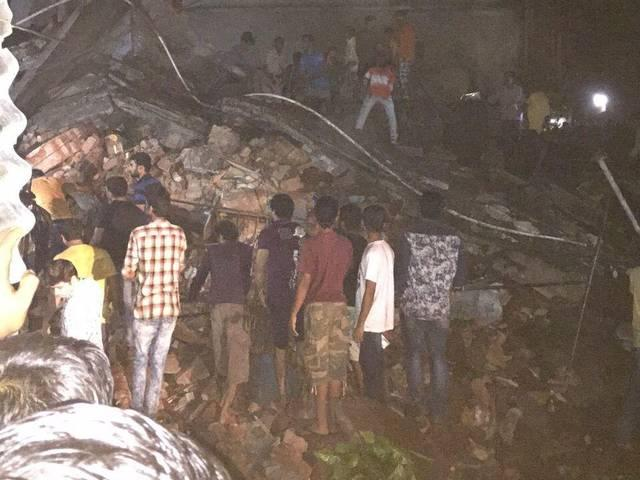 four storey building collapses in Thane, three dead
