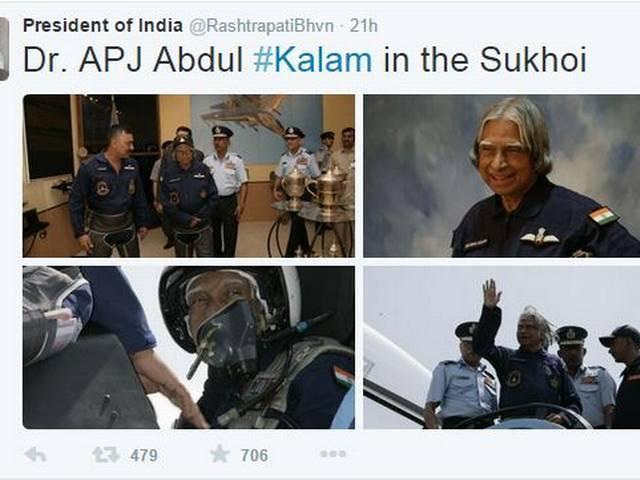 president's house tweets nice pics of people's president kalam