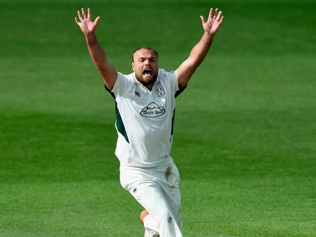 County Cricket_Joe Leach takes hat-trick with first three balls