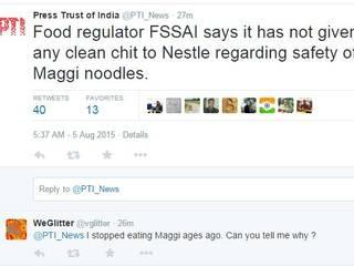 Food regulator FSSAI says it has not given any clean chit to Nestle regarding safety of Maggi noodles