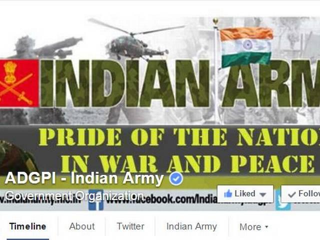 Indian army on face book