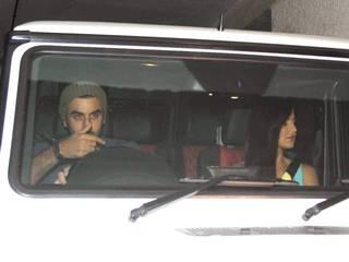 Bollywood actor Katrina Kaif with Ranbir Kapoor during the special screening of film Brothers