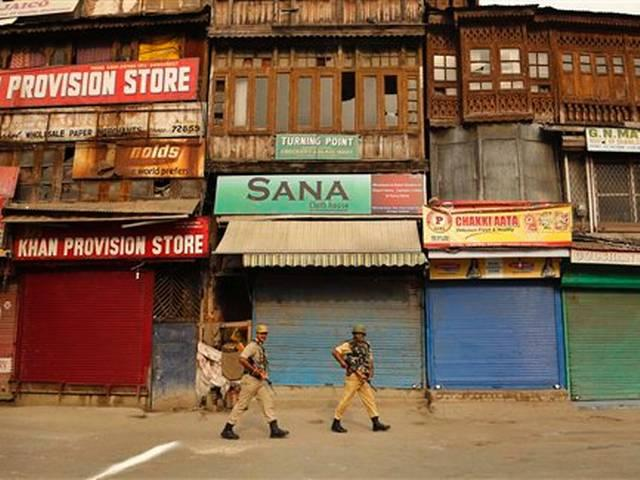 Kashmir organised a complete shut down on the eve of Independence Day