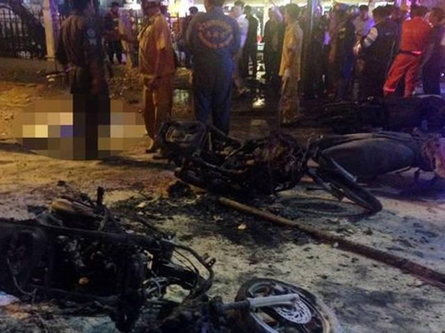 bomb blast in Bangkok busy tourist hotspot, kills 12