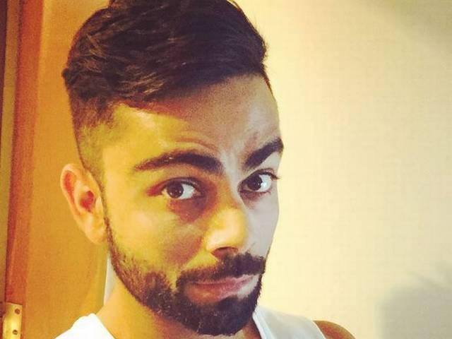 Team India's Captain Virat Kohli's New Hair Style_