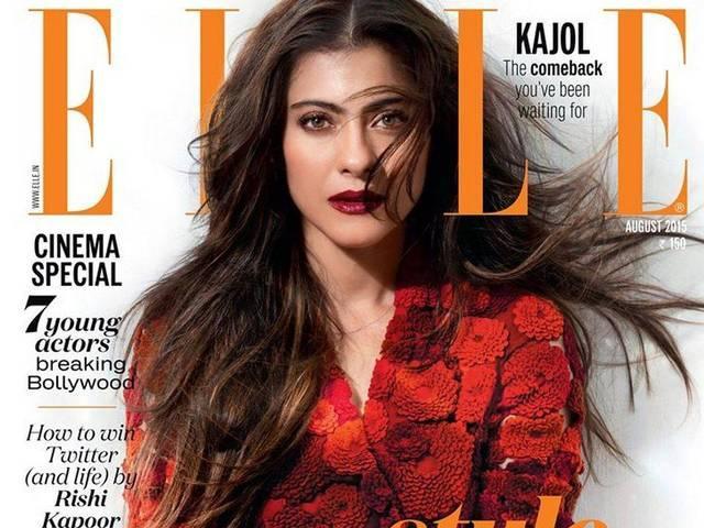 Kajol Poses for Elle August 2015