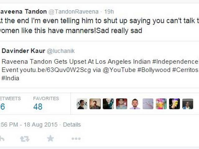 Raveena Tandon Gets Upset At Los Angeles Indian Independence Day Event