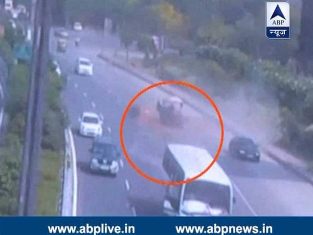 cctv footage shows many accidents took place within a month on greater noida expressway