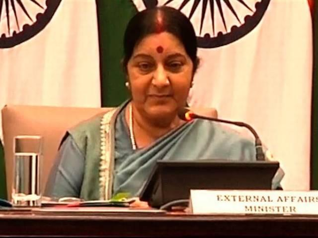 India won't talk on Kashmir until issues of violence and terror are not resolved: Sushma Swaraj
