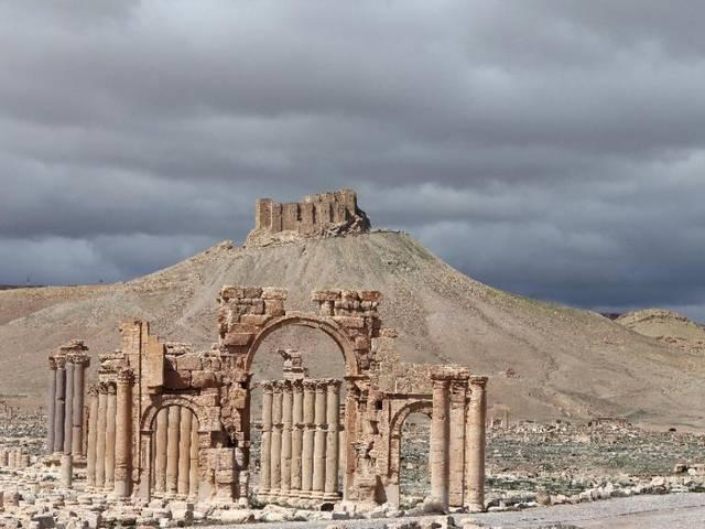 Activists: Islamic State destroys temple at Syria's Palmyra