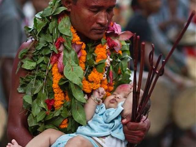 people celebrate Deodhani festival at the Kamakhya temple in Gauhati
