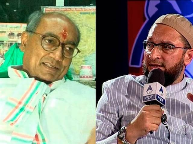 DIGVIJAY SINGH GIVES CONTROVERSIAL STATMENT ON OWAISI