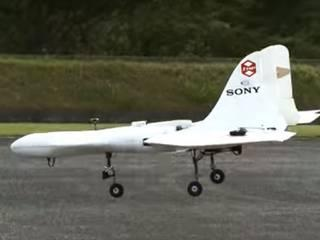 Sony unveils airplane-shaped drone with vertical takeoff.