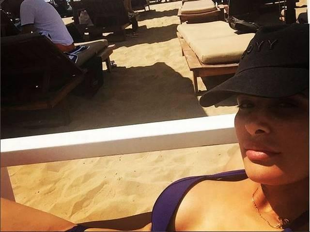 nargis fakhri in greece