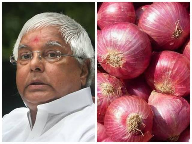 lalu attacks on bjp for onion