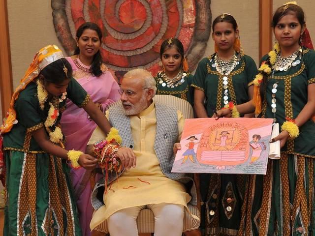 Narendra Modi_Raksha Bandhan_celebration