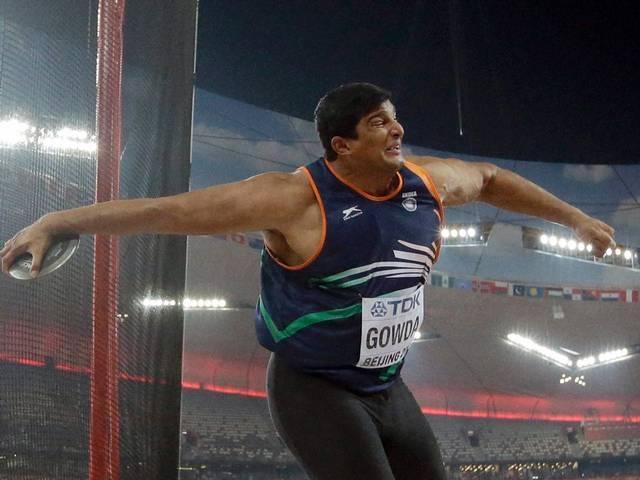 2015_India_Vikas Gowda_World Athletics Championships_China