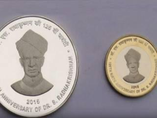Modi releases commemorative coins on Dr Radhakrishnan's birth annivarsary