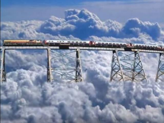root of train to the cloud is very strange