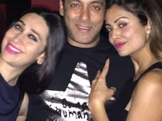 Salman Khan party with Biwi Number one