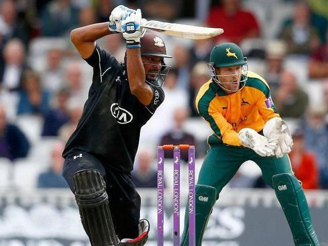 Sanga shines with his ton 166 for Surrey during Royal London one day cup semi final