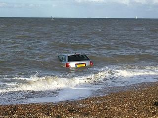 Audi A6_beach_Isle_Sheppey_Kent
