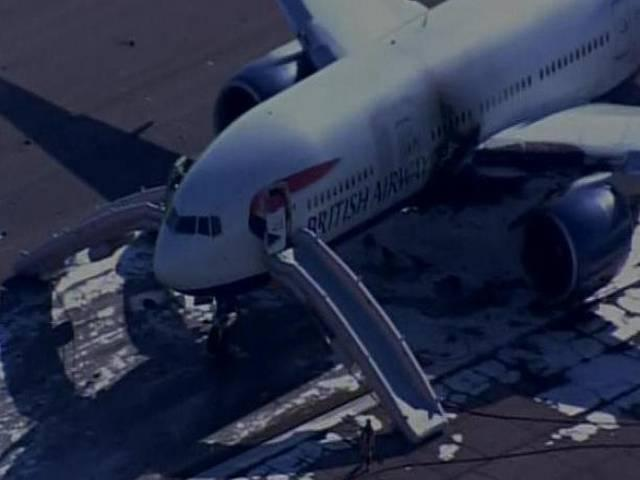 British Airways plane catches fire at Las Vegas