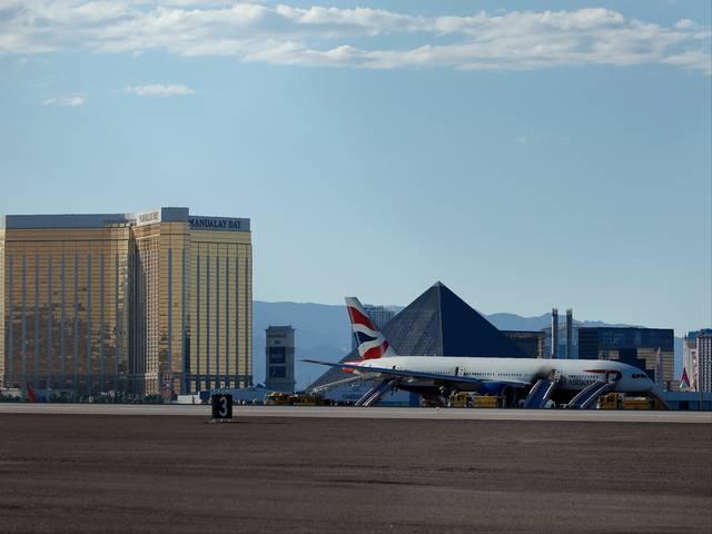 British Airways_plane burst_runway__Aircraft_Fire_Las_Vegas