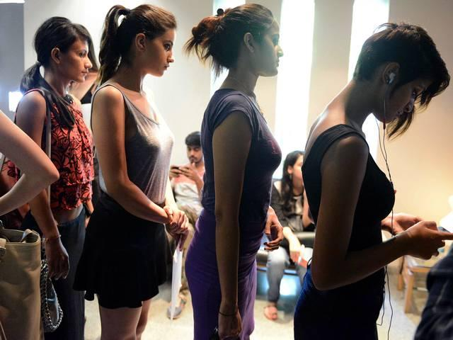 Auditions of India fashion week spring summer