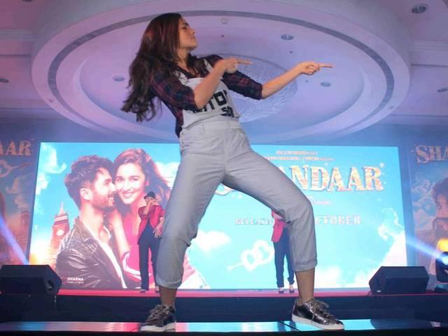 alia seems very happy to launch song gulabo