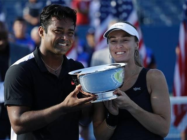Leander Paes and Martina Hingis win historic mixed doubles title